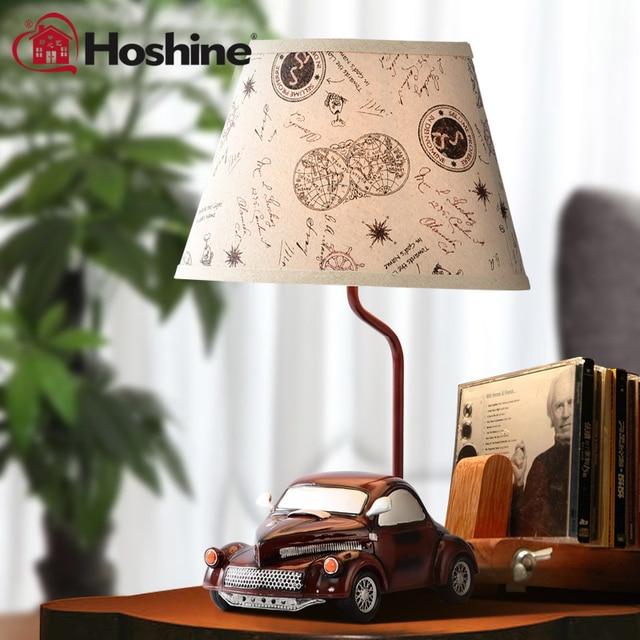 Hoshine New Novelty Vintage Car Decorative Table Lamp Home Bedside
