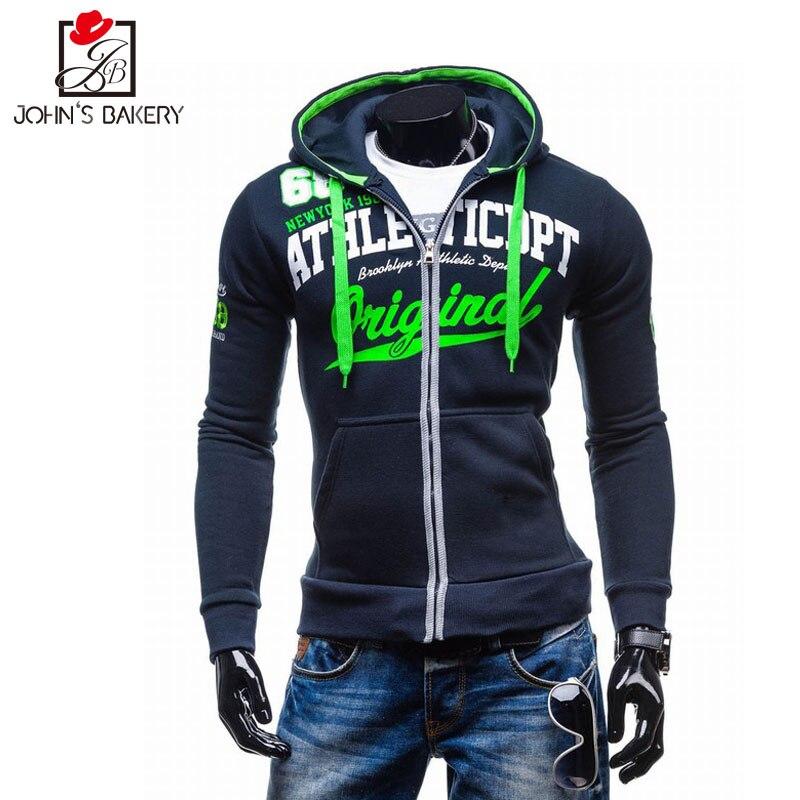 2017 New Fashion Hoodies Brand Men Letters Printed Zipper Sweatshirt Male Men S Sportswear Hoody Hip