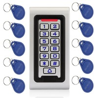 Waterproof IP68 RFID 125KHZ ID Keypad Single Door Stand Alone Access Control Metal Case Wiegand 26