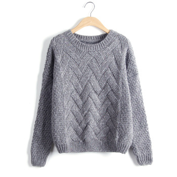 Loose Vintage Knited O-Neck Pullover  4