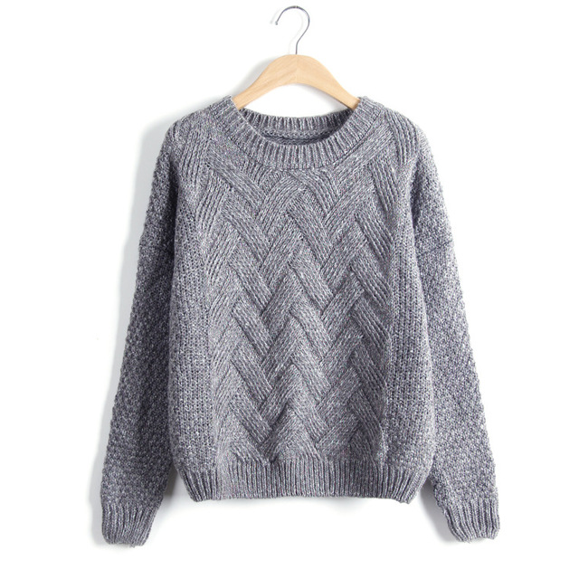 Loose Vintage Knited O-Neck Pullover  4