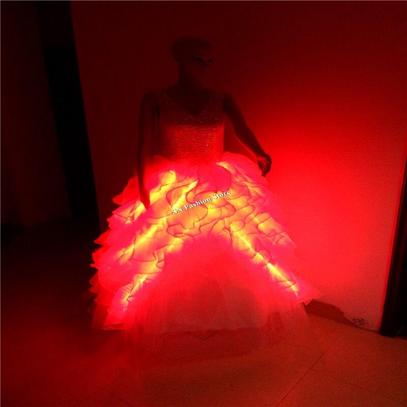 GG10 Värviline Ballroomi laulja tants LED-valgustite kostüümid - Pühad ja peod - Foto 6