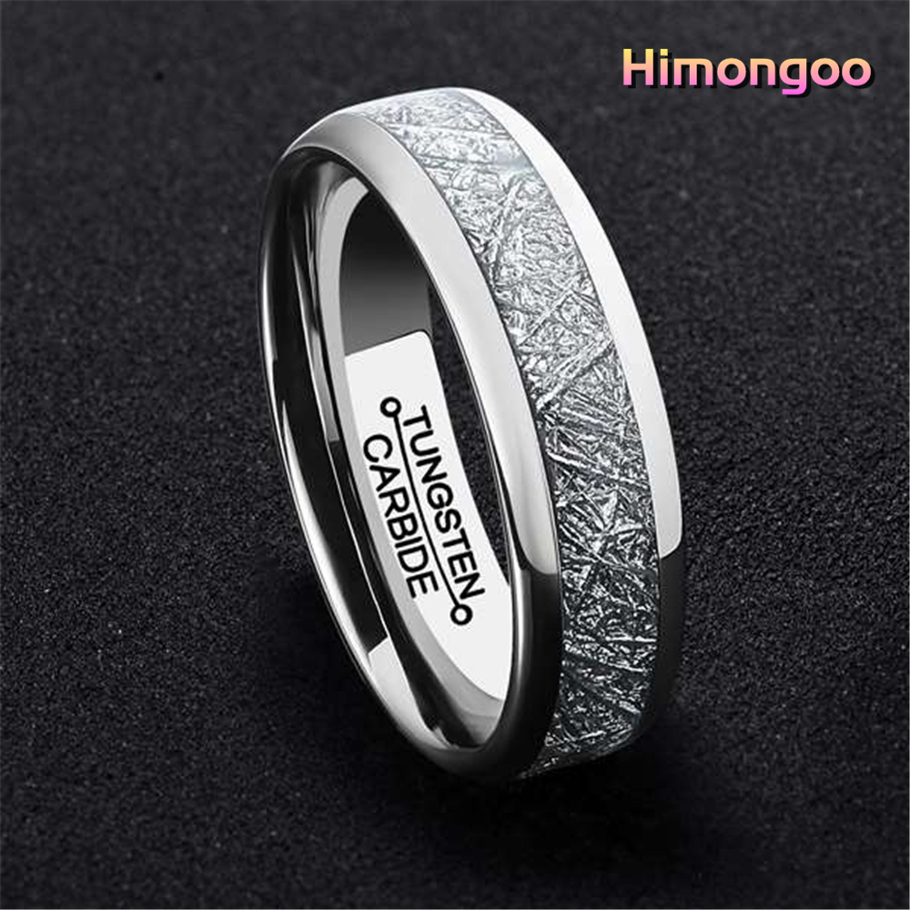 7-13 Tungsten Carbide Men/'s Wedding Band Ring Inlay Black Plated
