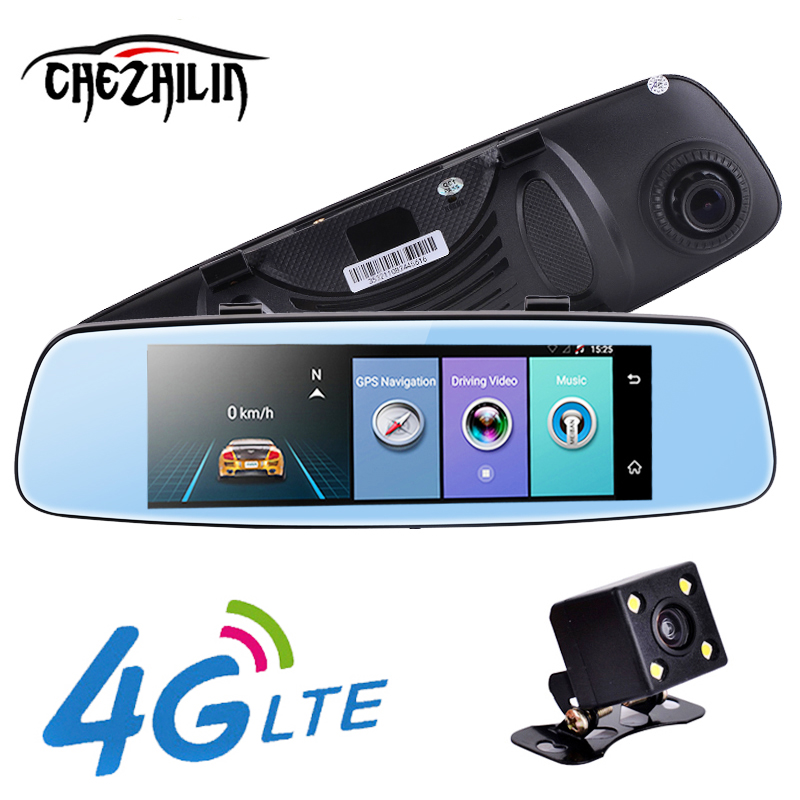 """chezhilin 4G Car DVR 7.84"""" Touch ADAS Remote Monitor Rear view mirror with DVR and camera Android Dual lens 1080P WIFI dashcam-in DVR/Dash Camera from Automobiles & Motorcycles    1"""