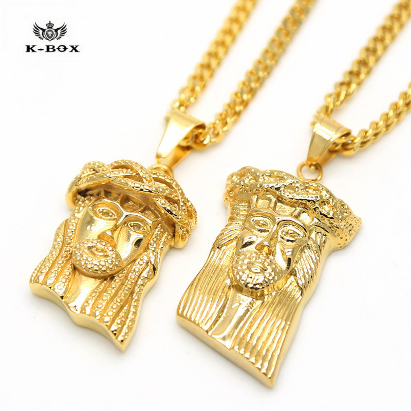 Stainless steel jesus piece face charm micro mini pendant golden 24 stainless steel jesus piece face charm micro mini pendant golden 24 necklace hip hop cuban chain 2 design in pendant necklaces from jewelry accessories aloadofball Choice Image