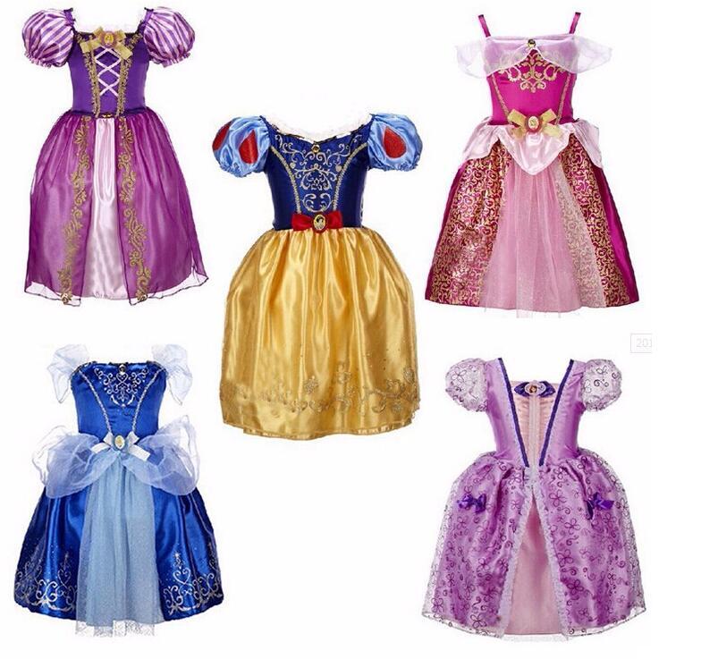 TPRPCO Girls Dresses Belle Princess Costume Dresses Children Cinderella Sleeping Beauty Rapunzel Cosplay Clothing R1251