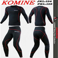 1 SET komine jk124 Summer Anti-Wrinkle Breathable underwear off-road motorcycle shirts and pants racing clothing sport clothing
