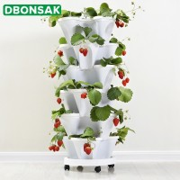 3 Tier Stackable Strawberry Herb Flower Vegetable Planter Balcony Kitchen Succulent Pots Home Garden Decoration Nursery Pots