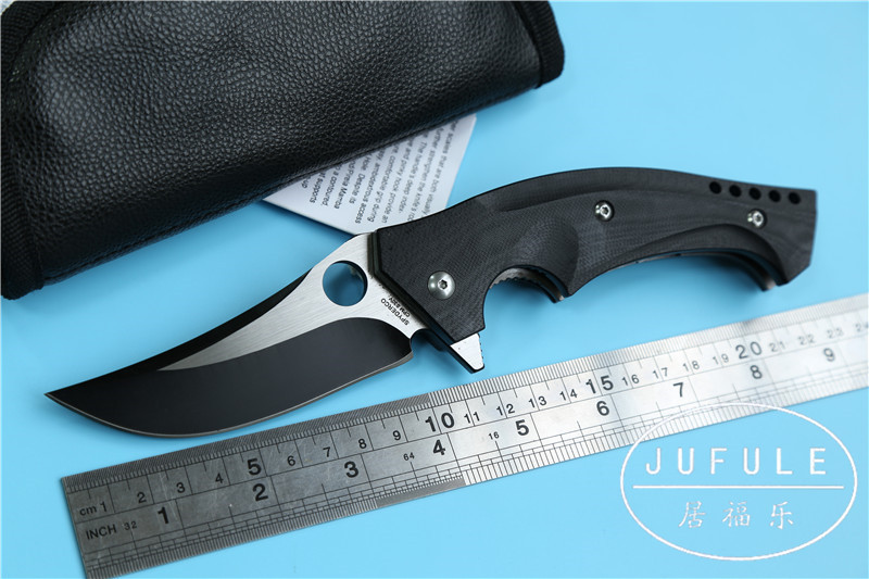 JUFULE oem C196 Folding font b Knife b font CPM S30V G10 Handle Ball Bearing Survival