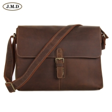 7084LB J.M.D Crazy Horse Leather Mens Brown Messenger Cross Body Shoulder Bag 2014 Hot Selling