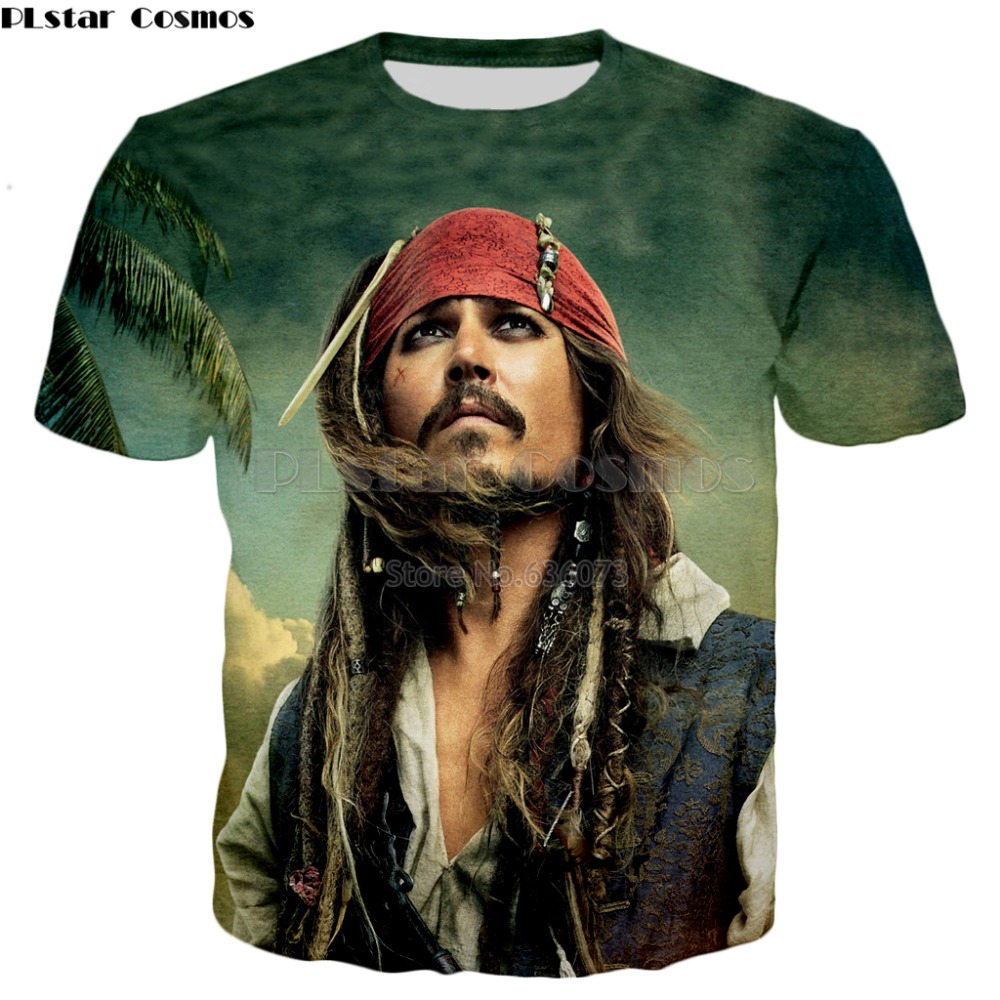 PLstar Cosmos Brand T-shirt 2018 summer Fashion t shirt Newest design Pirates of the Caribbean 3D Print Mens Womens t shirt