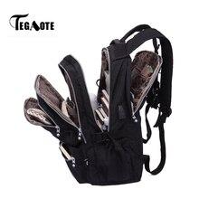 TEGAOTE lüks Rucksa sırt çantaları kadın Anti hırsızlık USB şarj dizüstü sırt çantası erkek okul çantası genç kızlar için seyahat Mochila