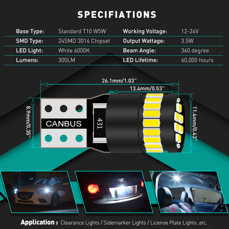 2x Canbus T10 W5W 168 194 LED Clearance Side Marker Lights For Mercedes Benz W211 W221 2x Canbus T10 W5W 168 194 LED Clearance Side Marker Lights For Mercedes Benz W211 W221 W220 W163 W164 W203 C E SLK GLK CLS M GL
