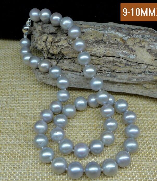 Livraison gratuite vente chaude nouveau Style>>>> NATURE 18 9-10 MM gris mer du sud collier de perlesLivraison gratuite vente chaude nouveau Style>>>> NATURE 18 9-10 MM gris mer du sud collier de perles