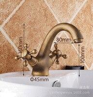Under Basin Faucet Full copper hot retro antique wash basin faucet basin faucet sink faucet