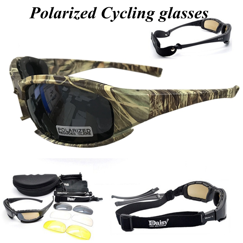 D A I S Y. X7 Glasses Polarized Sports Men Sunglasses Mountain Bike Bicycle Riding UV Protect Cycling Glasses