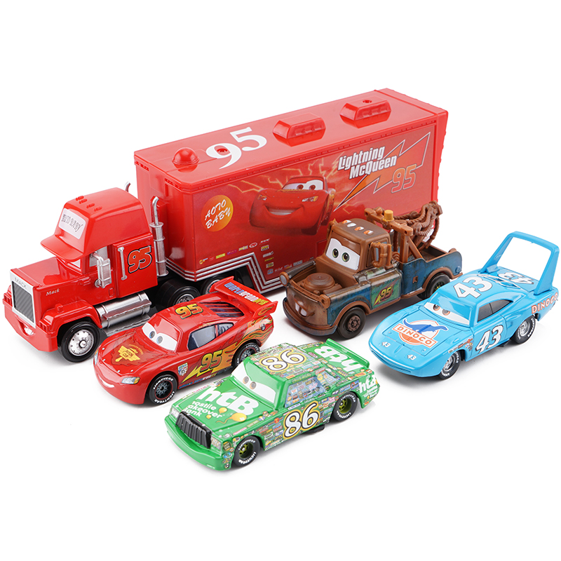 Disney Pixar Cars 2 3 Lightning McQueen Set Jackson Storm Cruz Ramirez 155 Diecast Alloy Car Model Birthday Gift Boy Kid Toy