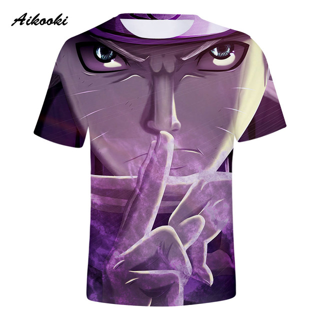 Aikooki New Naruto 3D T Shirts Fashion Men/Women T Shirt Cotton Short Sleeve Shirt Top Tees Boys/Girls T-shirt Golden Naruto 4