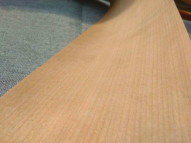 2x Natural Wood Sliced Veneer Quality Cherry Furniture Veneer Straight Grain Q/C