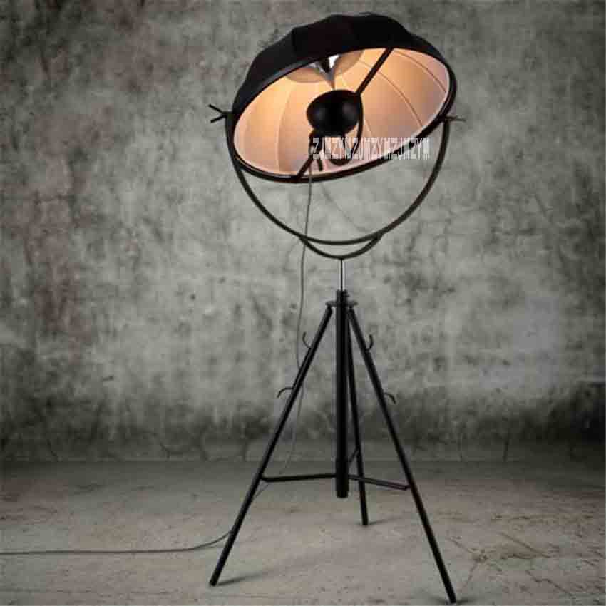 YKX109 Vintage Industrial Style Nordic Art Floor Lamp Living Room Bedroom Minimalist Creative Tripod Floor Lamp 110-220V 65CM