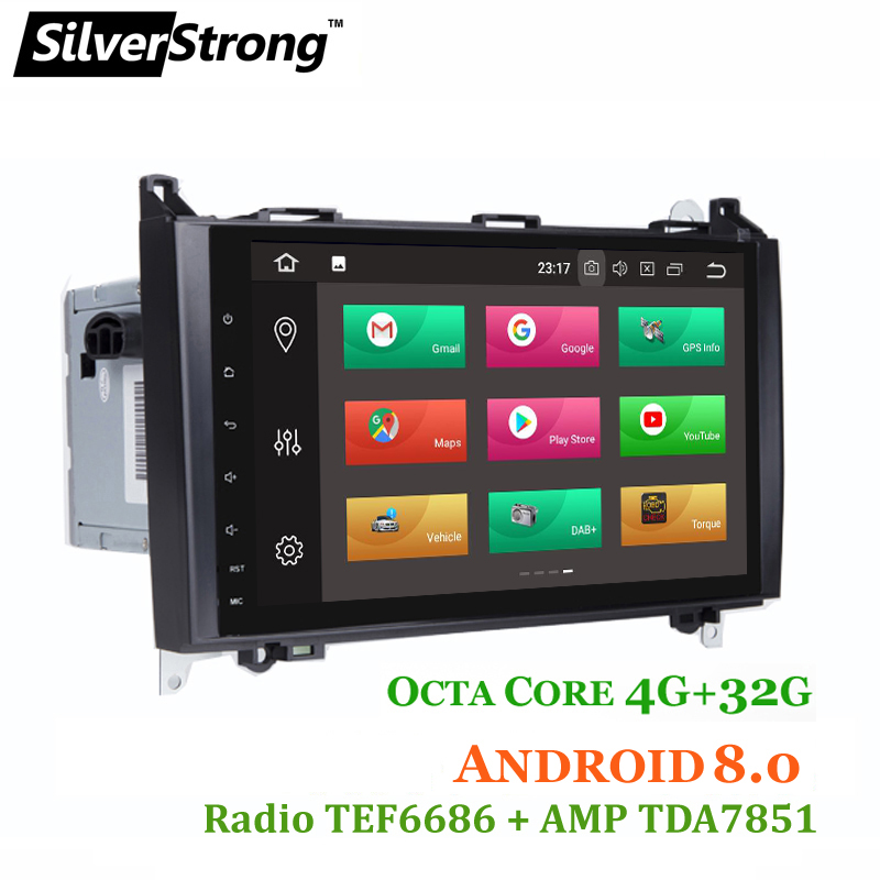 SilverStrong OctaCore Android7.1-8.0 Vito Viano Radio DVD For Mercedes-Benz Sprinter A Class B200 Vito Viano W169 W245 W469 W906 цена 2017