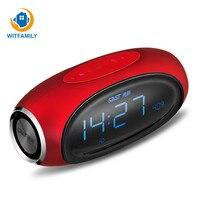 Светодио дный цифровой будильник дизайн экрана с беспроводной Bluetooth радио Поддержка AUX TF музыкальный плеер Будильник для офиса спальня