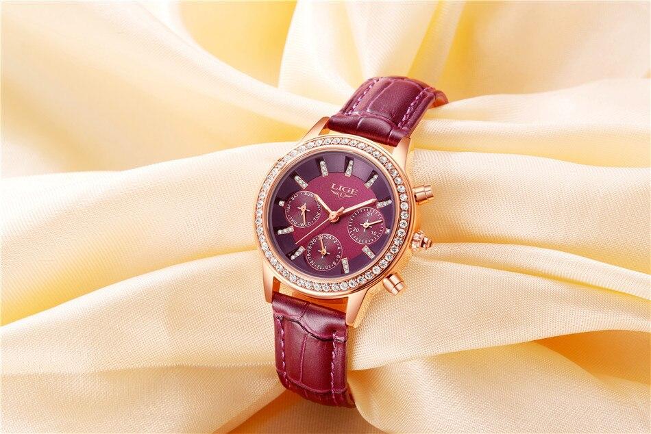 luxo menina relógio de quartzo casual senhoras