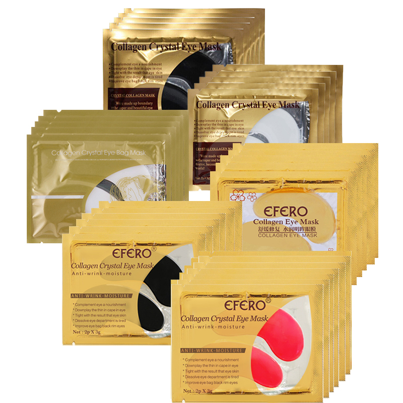 10/15pack EFERO Crystal Collagen Eye Mask Eye Patches For The Eye Care Anti-Wrinkle Dark Circle Gel Golden Mask For Face Care