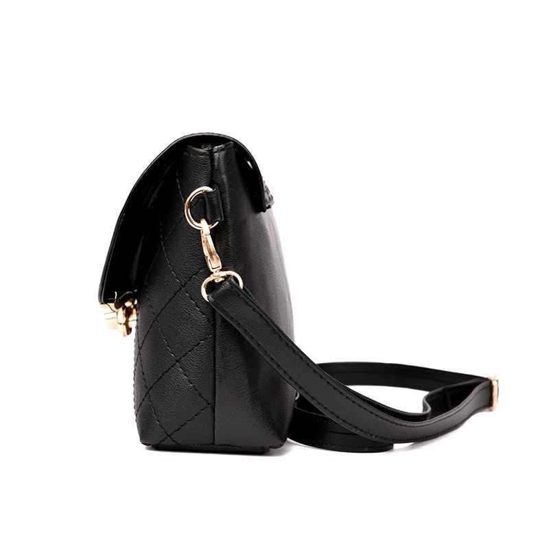 Классическая Женская Высококачественная сумка с клапаном из искусственной кожи, сумки на плечо, роскошная брендовая квадратная сумка клетчатая мини-сумка, дамская сумочка