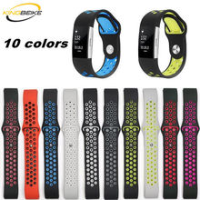 hot deal buy kingbeike sport silicone watchband for fitbit charge 2 bracelet smart wristbands watches band fitbit accessories strap