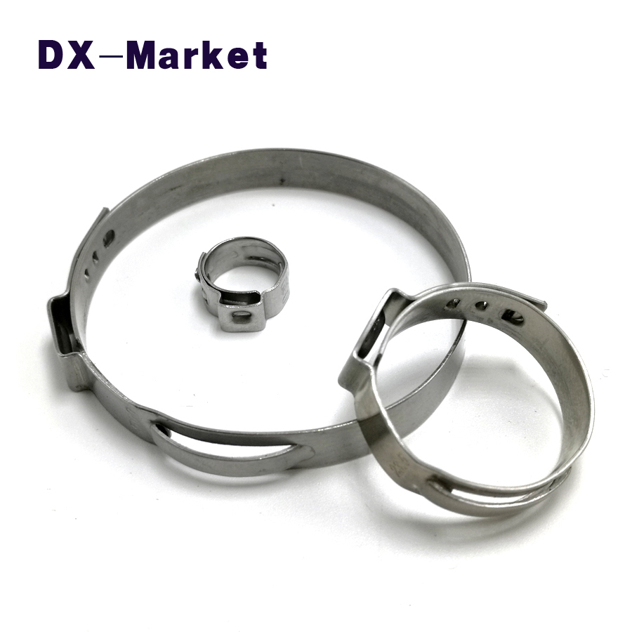 54.3mm-75.5mm , 304 stainless steel single ear clamp clips , sus304 clamping band water pipe clip Hose clamp 35mm 110mm 304 stainless steel saddle clamp antirust cable clip water pipe fixing bracket clamp