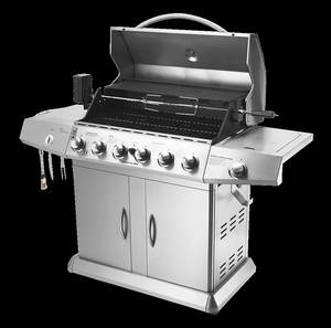 Bbq Grill Skewer Motor-Cover Side-Burner Outdoor-Gas with by Sea