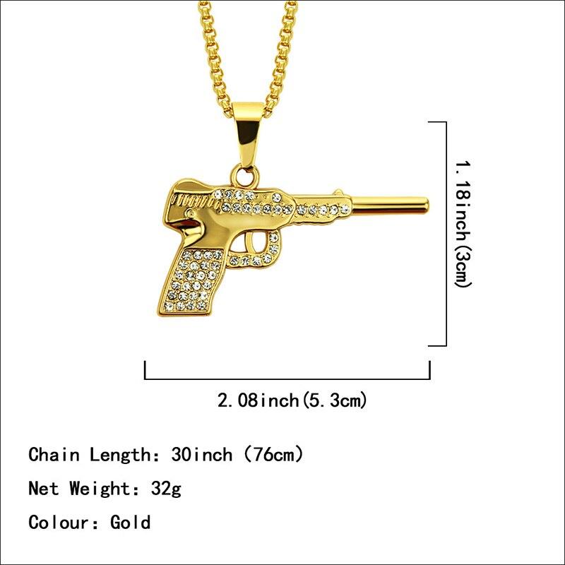 Хип-хоп ювелирные изделия Модные золотые длинные цепочки ожерелья для женщин и мужчин персонализированные буквы Орел молитвенный знак карта кулон ожерелье - Окраска металла: N055