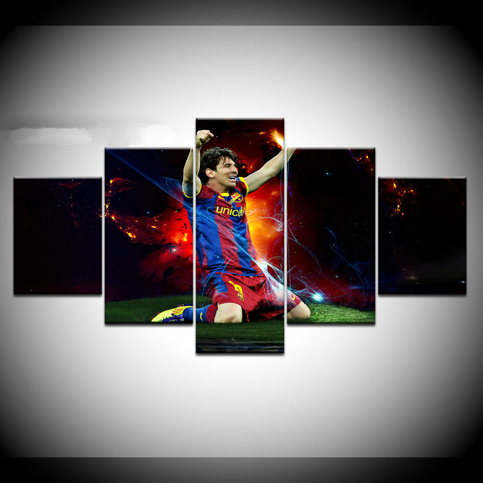 Lionel Messi Barcelona FC  Modern Wall Art Canvas Print Framed Box ~ Many Sizes