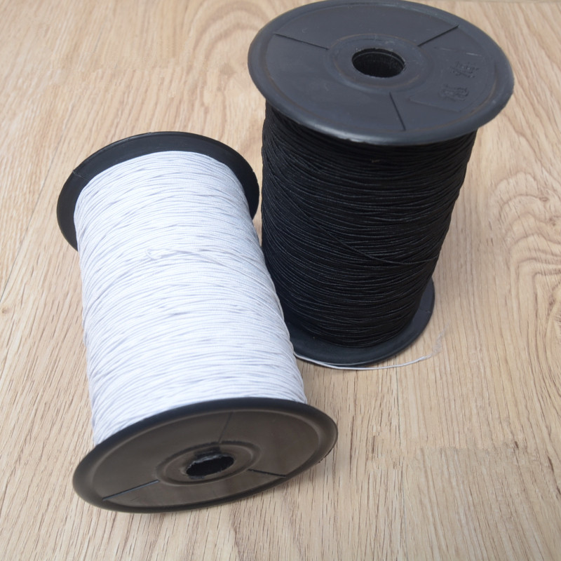 Very Fine Elastic Band Black White Elastic Line Circular Elastic String Sewing Bottom Rubber Band
