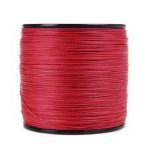 New Japan Multifilament 100% PE super strong Braided Fishing Line 1000M 4strands spectra red 6LB -80LB fishing tackle online(China)