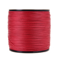 New Japan Multifilament 100 PE Supper Strong Braided Fishing Line 1000M 4strands Red Color 6LB 80LB