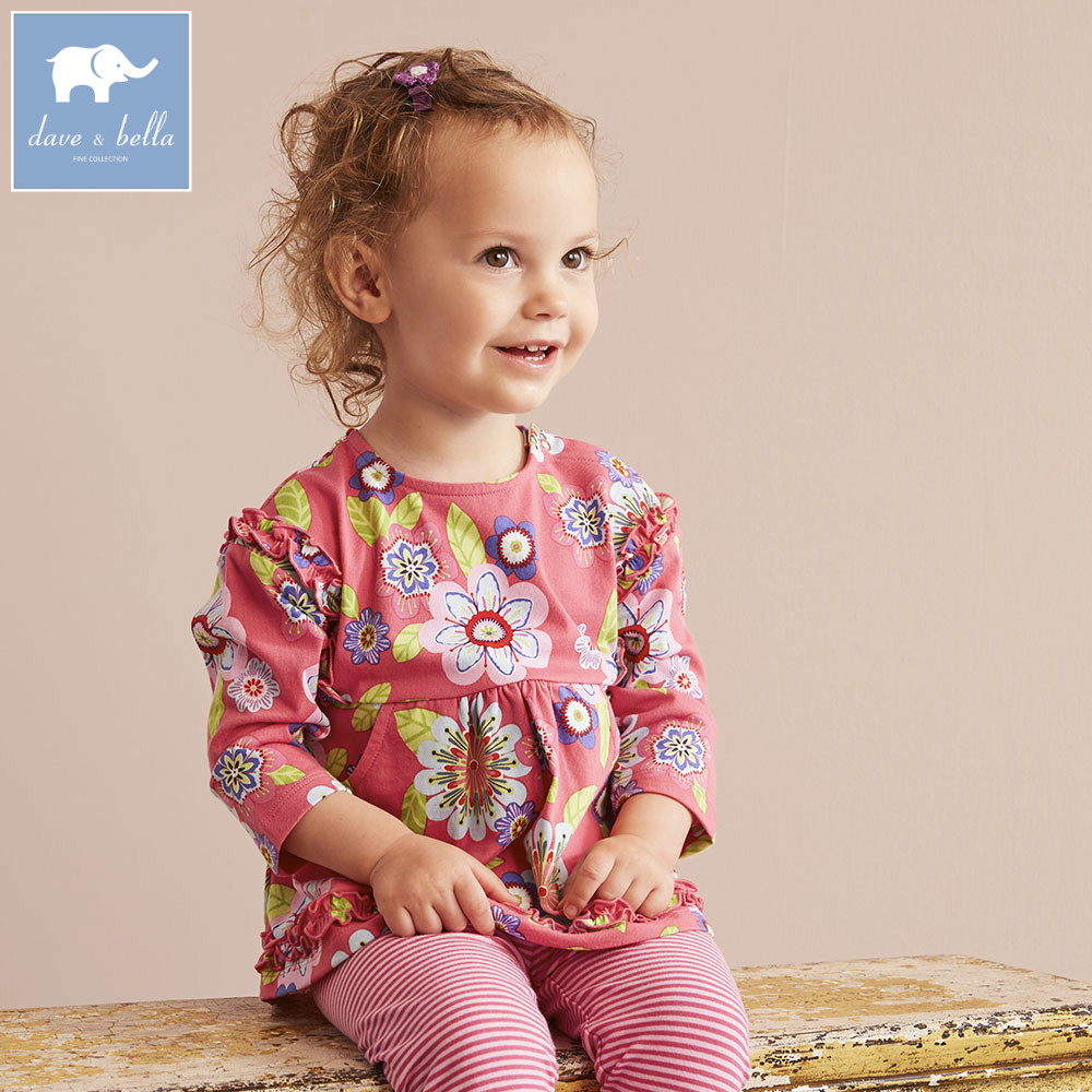 DB5753 dave bella autumn baby girls floral clothing sets floral suit children clothing sets high quality clothes db3704 dave bella autumn baby girls floral clothing sets kids flower clothing sets toddle cloth kids sets baby costumes