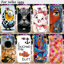 Hard Plastic Cell Phone Skins For Wiko Iggy 4.5 inch Cases Wholesale and Retail Custom DIY Painted Shield Smartphone Hood Shell