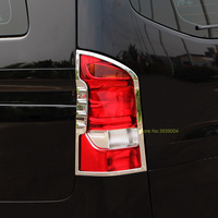 For Mercedes Benz Vito 2016 2017/For V260 2PCS Car Rear Fog Light Lamp Cover Trim ABS Chrome Car Styling Auto Accessories
