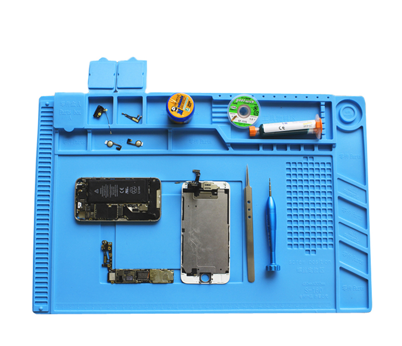 Image 3 - Heat resistant Soldering Mat Silicone Heat Gun BGA Soldering Station Insulation Pad Repair Tools Maintenance Platform Desk Mat