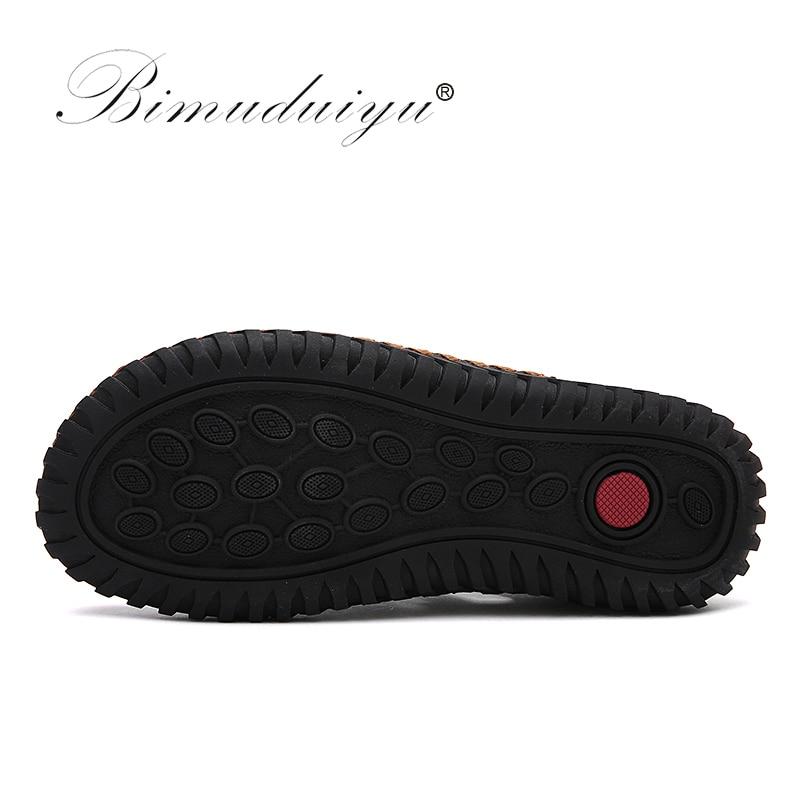BIMUDUIYU uued mehed sandaalid brändi nahk suvine vabaajajalatsid - Meeste jalatsid - Foto 4