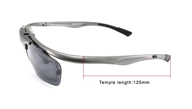 938afca620 Panlees UV400 Flip up Prescription Sunglasses Polarized Sun Glasses ...
