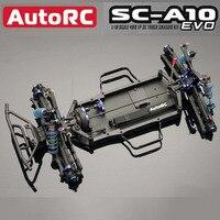 새로운 AutoRC SC-A10 EVO 짧은 트랙 프레임 50% 키트 1/10 4WD 오프로드 원격 controlelectric 트랙 프레임 RCcar rc 자동차 경주