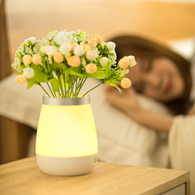 Touch Control LED Night Light USB Rechargeable Vase Bedroom Desk Lamp Decorative Reading For Home Women
