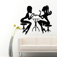Creative Sexy Girls Vinyl Wall Decal Beauty Design Nail Art Hair Styling Mural Wall Sticker Nail