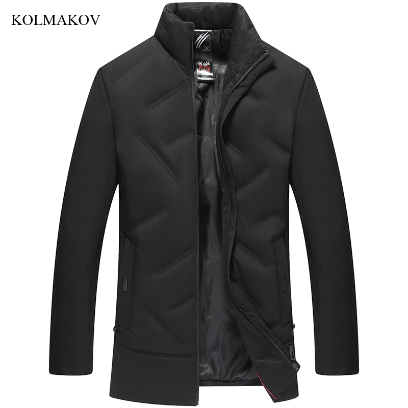 New arrival style men fashion long down coats high quality hooded hair collar men's thick white duck down coat large size L-7XL