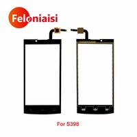 10Pcs/lot High Quality 5.0 For Philips Xenium S398 Touch Screen Digitizer Sensor Glass Lens Panel Black +Tracking Code