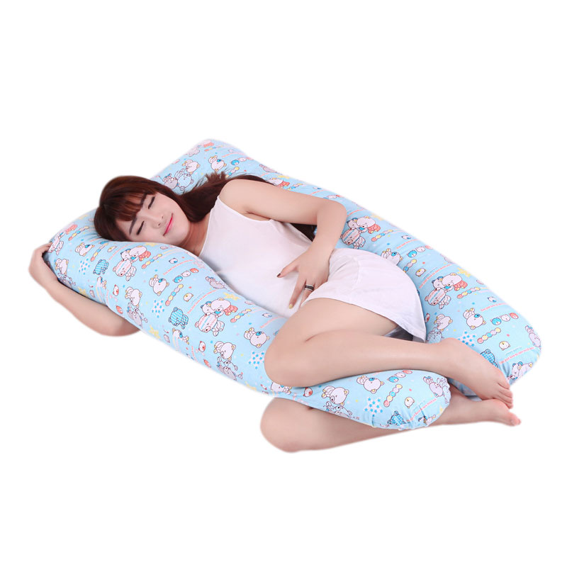 Pillow Case Cilected U-shaped Pregnancy Pillow Cases Cover For Side Bed Sleeping Maternity Body Pillowcase Removable Cover With Zip 125*70cm