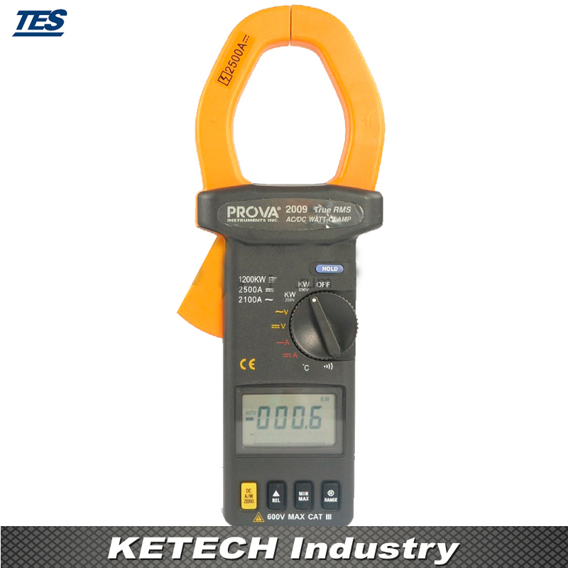 AC/DC Clamp Meter ,Temperature Measurement Tester PROVA-2009 ...